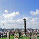 Gravestones & Caedmons Cross by Jenn Ridley