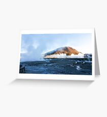 A mountain on the sky Greeting Card
