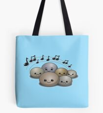 Rock concert with cute stones Tote Bag