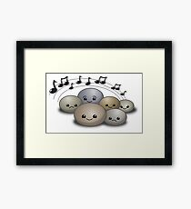 Rock concert with cute stones Framed Print