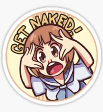 GET NAKED!!  Sticker