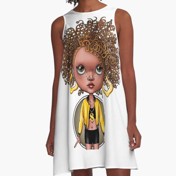 Georgia Peach A-Line Dress
