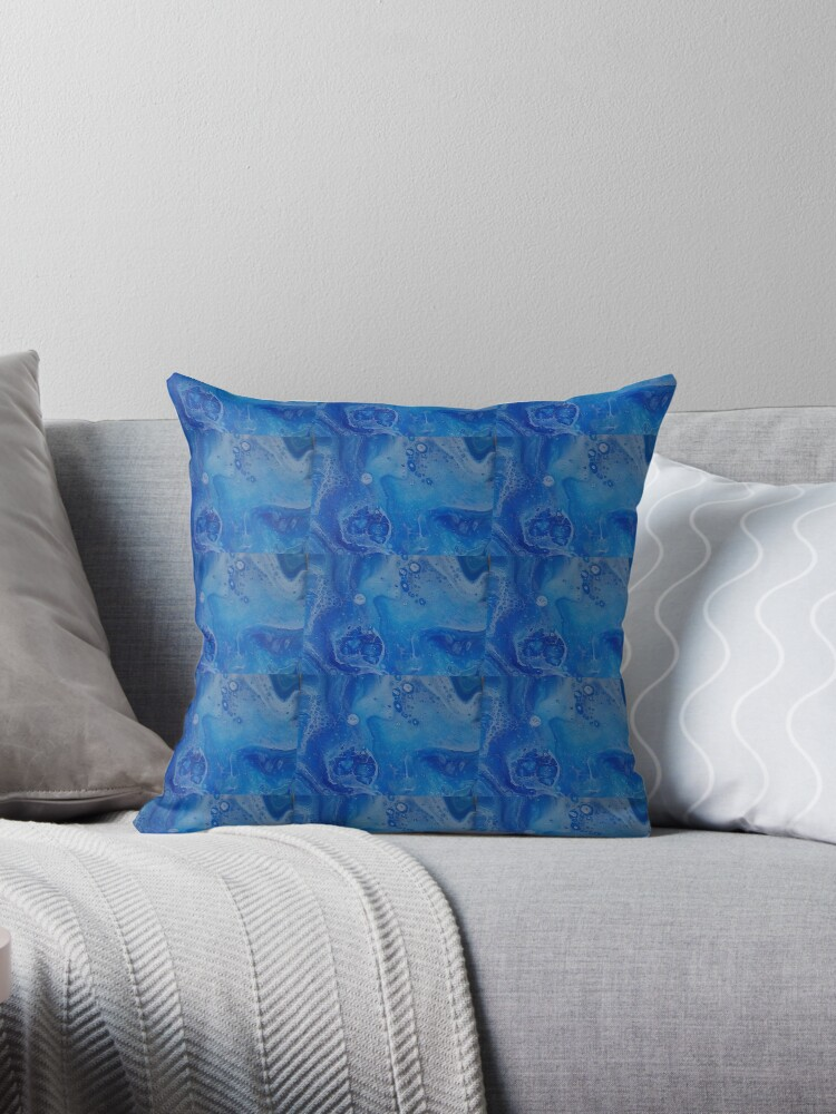 Ice Blue Throw Pillows :