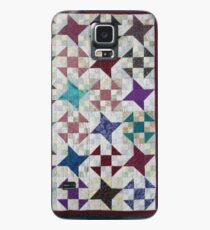 Churn Dash and Falling Stars Quilt Case/Skin for Samsung Galaxy