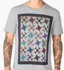 Churn Dash and Falling Stars Quilt Men's Premium T-Shirt