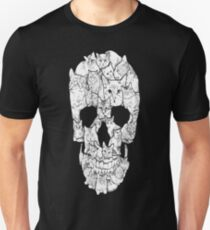 Sketchy Cat Skull T-Shirt