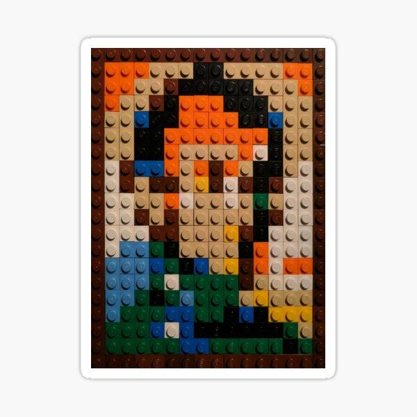 Abraham Lincoln in Toy Bricks Sticker