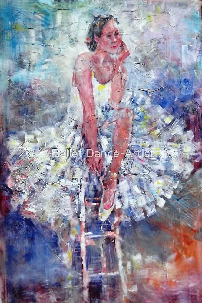 Ballet Dancer on the Stool by Ballet Dance-Artist