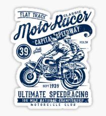Motorcycle Racer Retro Vintage Sticker