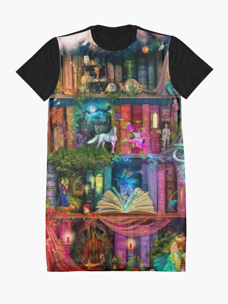 Alternate view of Whimsy Trove - Treasure Hunt Graphic T-Shirt Dress