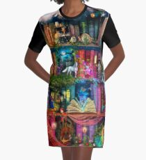 Whimsy Trove - Treasure Hunt Graphic T-Shirt Dress