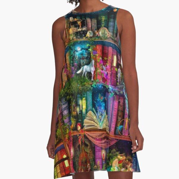 Whimsy Trove - Treasure Hunt A-Line Dress