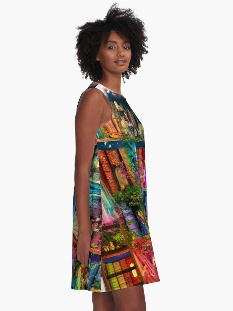 Alternate view of Whimsy Trove - Treasure Hunt A-Line Dress