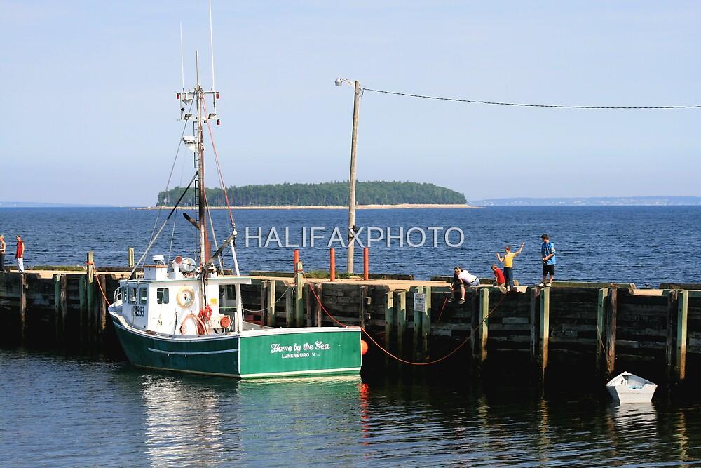 Wharf Fishing by HALIFAXPHOTO