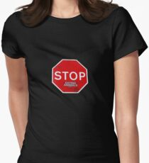 Stop Eating Animals T-Shirt Women's Fitted T-Shirt