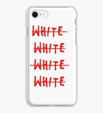 White in red iPhone Case/Skin
