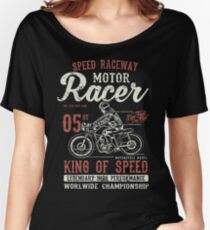 Motorcycle Racer Retro Vintage Women's Relaxed Fit T-Shirt