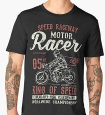 Motorcycle Racer Retro Vintage Men's Premium T-Shirt
