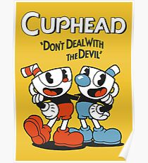 """Cuphead® - """"Don't Deal with the Devil"""" T-Shirt & Memorabilia Poster"""