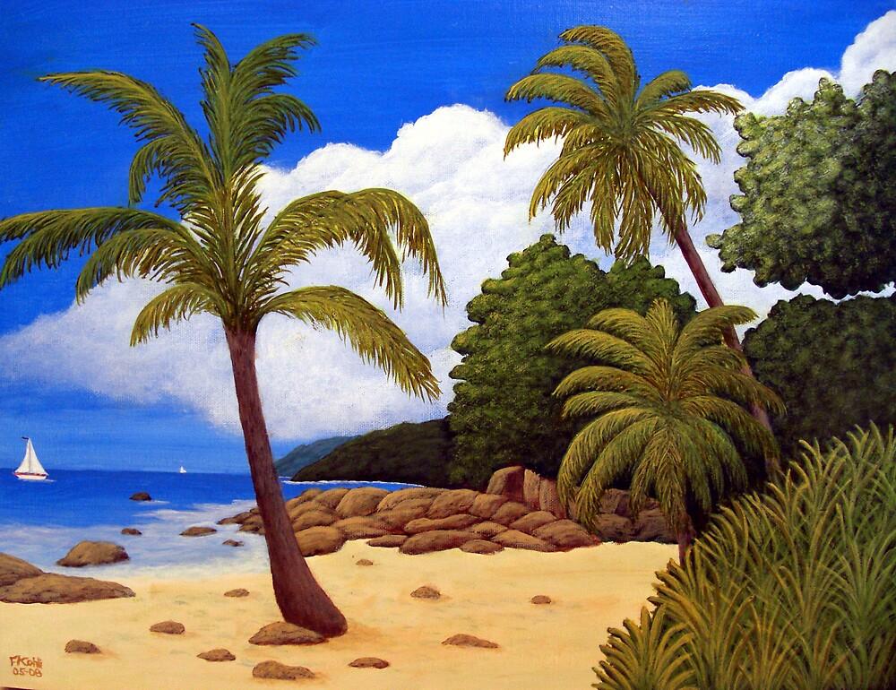 Tropical Island Beach by fbkohli