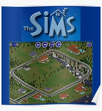 The Sims 1 Neighborhood Poster