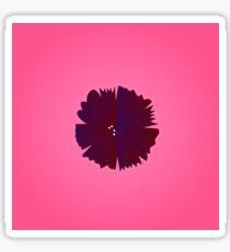Purple flower on pink Sticker
