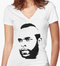 Mr. T T-Shirt Women's Fitted V-Neck T-Shirt
