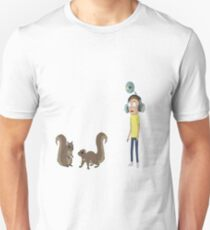 Squirrel Morty - Rick and Morty - Sticker T-Shirt
