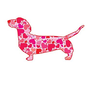 Dachshund Valentine by tiffanyo