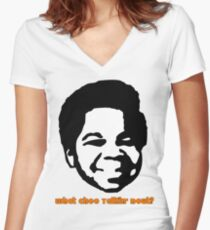 Gary Coleman Women's Fitted V-Neck T-Shirt
