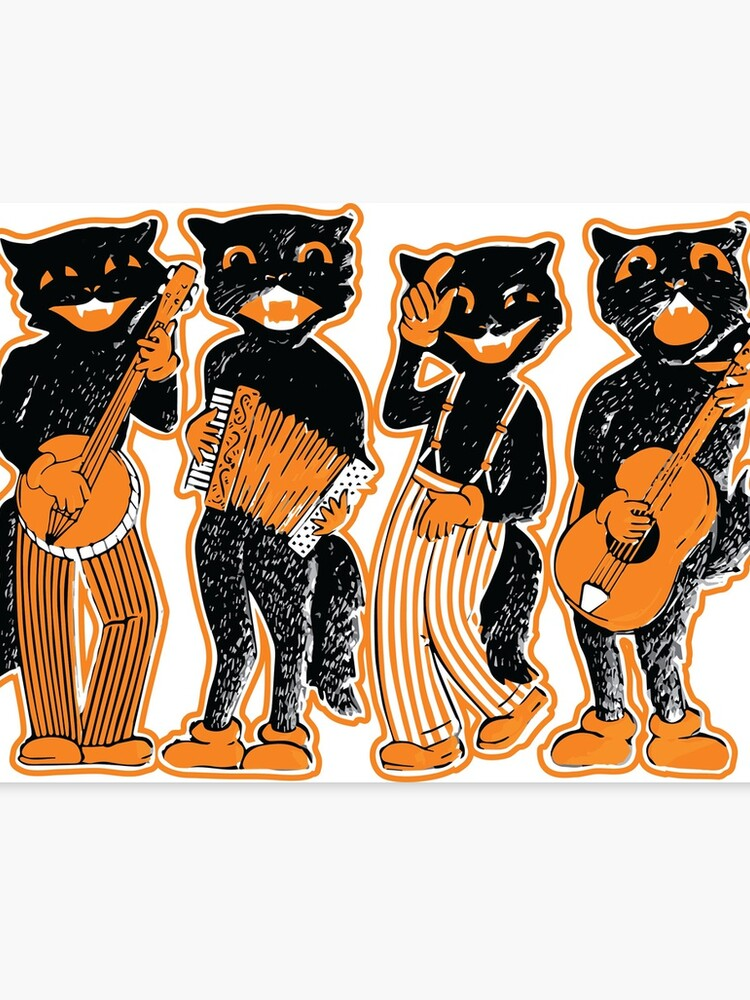 Vintage Halloween Minstrel Black Cat