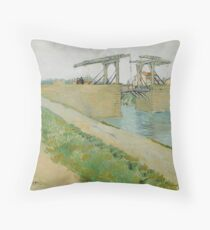 The Langlois Bridge, 1888 by Vincent Van Gogh  Throw Pillow