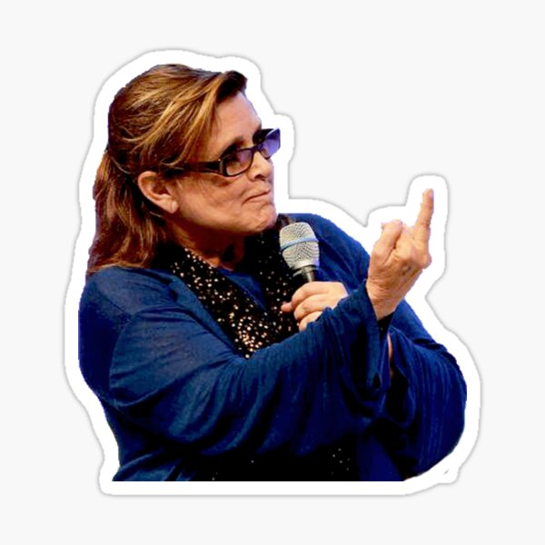 Carrie Fisher Sticker