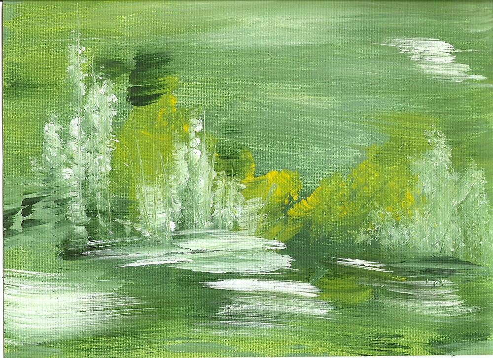 Abstract Landscape, Green by Ginger Lovellette