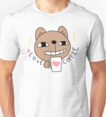 Really Love Coffee Bear  T-Shirt