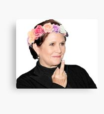 Carrie Fisher <3 Canvas Print