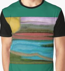Southwestern Sierra Sunrise Abstract Art Graphic T-Shirt