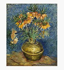 Imperial Fritillaries in a Copper Vase by Vincent Van Gogh Photographic Print