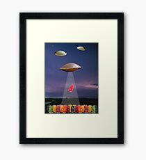JELLY BABIES VS FLYING SAUCERS Framed Print