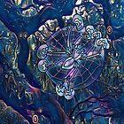 Mystischer Engel Oak Tree Spider von Cindi Hardwicke