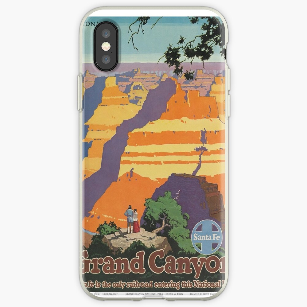 Weinleseplakat - Grand Canyon iPhone-Hülle & Cover
