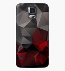Abstract background of triangles polygon wallpaper in black red colors Case/Skin for Samsung Galaxy