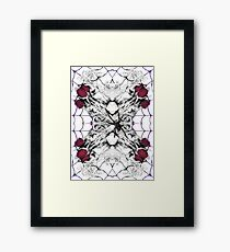 Roses Black Widow Framed Print