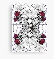 Roses Black Widow Canvas Print