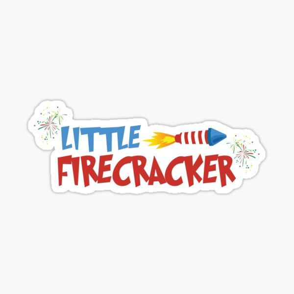 Little Firecracker T-Shirt Sticker