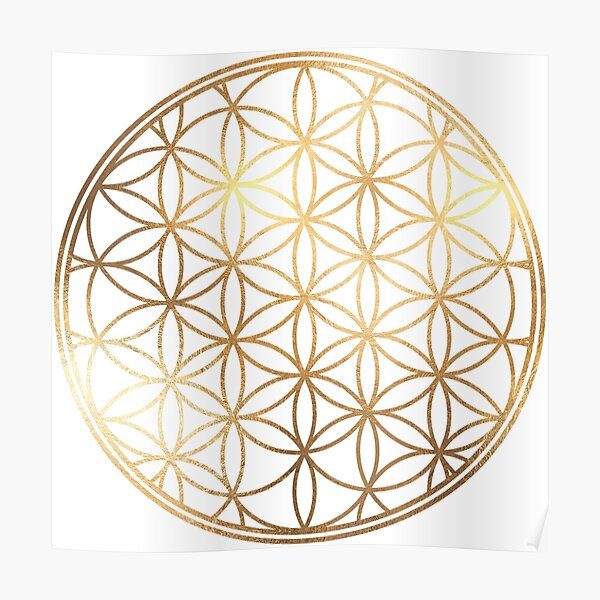 Flower of Life, Faux Gold Foil Poster