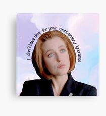 Dana Scully Badass Canvas Print