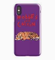 Hobbes and Calvin logo iPhone Case/Skin