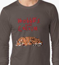 Hobbes and Calvin logo Long Sleeve T-Shirt