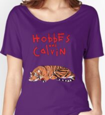 Hobbes and Calvin logo Women's Relaxed Fit T-Shirt